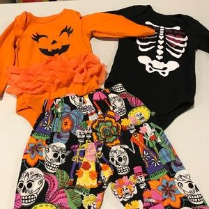 Day of the dead , Halloween clothes 6-9ms
